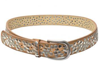 Cintura in pelle marrone per donna