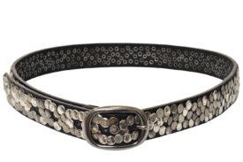Cintura in pelle nera per donna