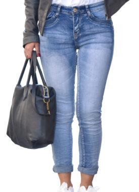 Jeans donna elasticizzato Made in Italy